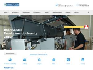 Bhartiya Skill Development University's Website Screenshot