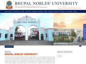 Bhupal Nobles University's Website Screenshot