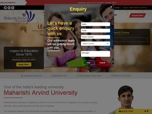 Maharishi Arvind University, Jaipur's Website Screenshot