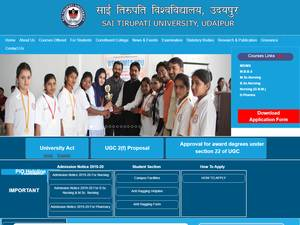 Sai Tirupati University's Website Screenshot