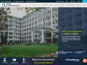 Era University's Website Screenshot