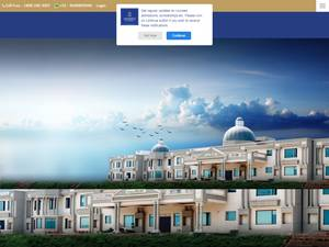 Sanskriti University's Website Screenshot