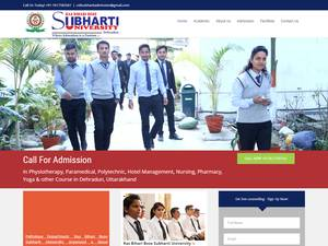 Ras Bihari Bose Subharti University's Website Screenshot