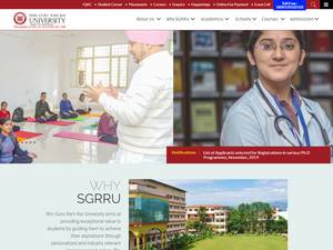 Shri Guru Ram Rai University's Website Screenshot