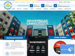 Brainware University's Website Screenshot