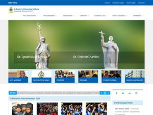 St. Xavier's University Screenshot