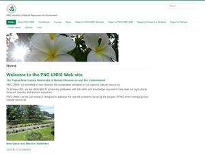 PNG University of Natural Resources and Environment's Website Screenshot