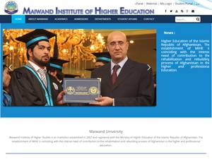 Maiwand institute of Higher Education's Website Screenshot