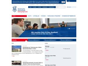 Technische Hochschule Georg Agricola's Website Screenshot