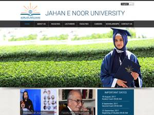 Jahan E Noor Institute of Higher Education's Website Screenshot
