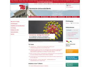 Technische Universität Berlin Screenshot