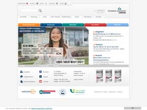 Technische Universität Ilmenau's Website Screenshot