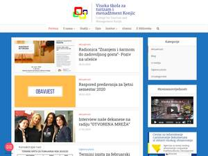 Visoka škola za turizam i menadžment Konjic's Website Screenshot