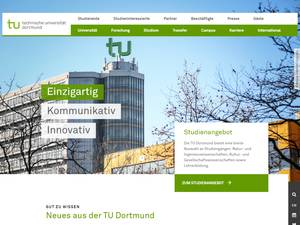 Technische Universität Dortmund's Website Screenshot