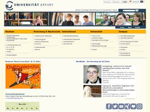 Universität Erfurt's Website Screenshot