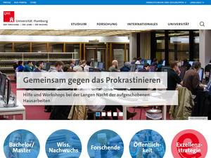 Universität Hamburg's Website Screenshot