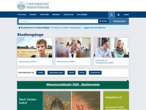 Universität Hohenheim's Website Screenshot