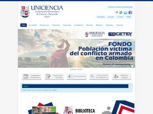 Corporacion Universitaria de Ciencia y Desarrollo's Website Screenshot