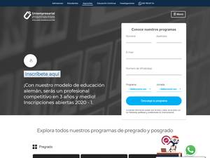 University Business Foundation of the Chamber of Commerce of Bogota's Website Screenshot