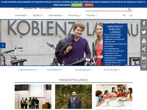Universität Koblenz-Landau's Website Screenshot