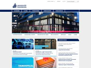 Universität Paderborn's Website Screenshot