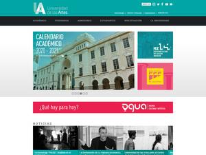 Universidad de las Artes's Website Screenshot