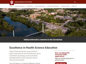 Indiana University Fort Wayne's Website Screenshot