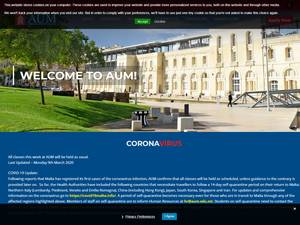 American University of Malta's Website Screenshot