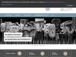 Universität Ulm Screenshot