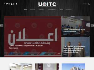 University of Information Technology and Communications's Website Screenshot