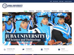 Juba University of Science and Technology's Website Screenshot