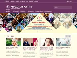 Xezer Universiteti's Website Screenshot