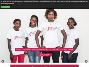 UNICAF University, Malawi's Website Screenshot