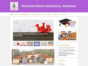 Moshood Abiola University of Science and Technology, Abeokuta's Website Screenshot