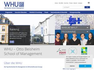 WHU - Otto Beisheim School of Management's Website Screenshot