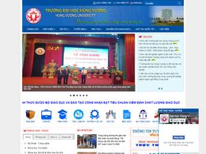 Hung Vuong University's Website Screenshot