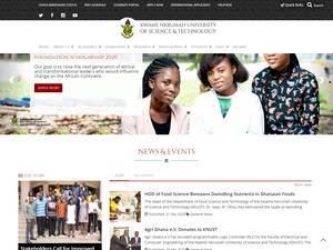 Kwame Nkrumah University of Science and Technology's Website Screenshot