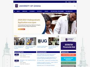 University of Ghana's Website Screenshot
