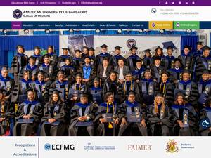 American University of Barbados's Website Screenshot