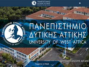 Technological Education Institute of Athens's Website Screenshot