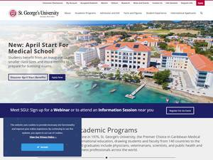 St. George's University's Website Screenshot