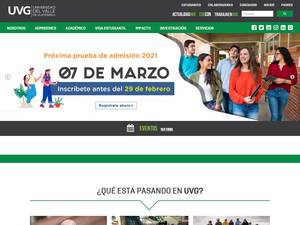 Universidad del Valle de Guatemala's Website Screenshot