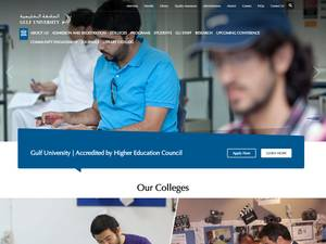 Gulf University's Website Screenshot