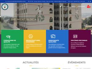 Université Kofi Annan de Guinée's Website Screenshot