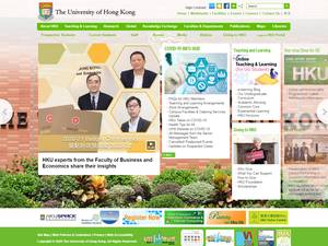 The University of Hong Kong's Website Screenshot