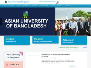 Asian University of Bangladesh's Website Screenshot
