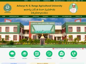Acharya N.G. Ranga Agricultural University's Website Screenshot
