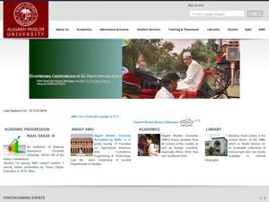 Aligarh Muslim University's Website Screenshot
