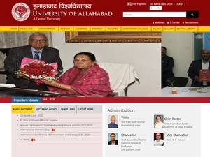 University of Allahabad's Website Screenshot