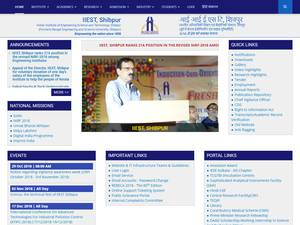 Indian Institute of Engineering Science and Technology, Shibpur's Website Screenshot